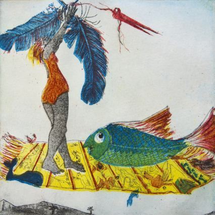 Artbook Vogelin und Fischerich, Story of Stefan Schultz, Illustrations of Anneliese Guttenberger